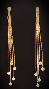 funky earrings gold tassel drop earrings funky