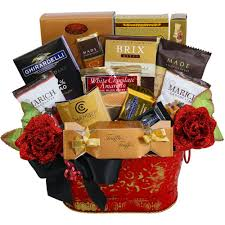 ghirardelli gift basket decadent chocolate truffles and delightful chocolate treats gift