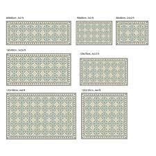 Turquoise Kitchen Rugs Pvc Vinyl Mat Tiles Pattern Decorative Linoleum Rug U2013 Color Black