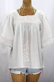 peasant blouse la marina embroidered peasant blouse all white