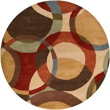 Overstock Bathroom Rugs by Hand Tufted Contemporary Multi Colored Circles Lev Wool Geometric