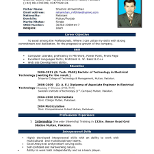 resume format on word resume in cv format free cv