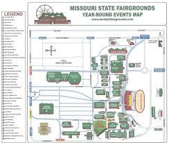 Map Missouri Missouri State Fair