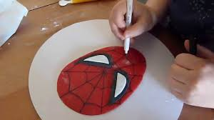 spiderman in pasta di zucchero fondant spiderman tutorial cake