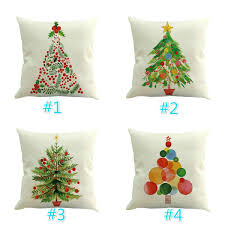 decoration cushion cover tree pillow throw