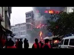 siege social mnh fireworks explosion burns residential building in china