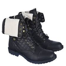 s fold combat boots size 12 s fold fur combat boot 1075 13 black shiekh shoes