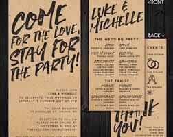 kraft paper wedding invitations kraft paper wedding invitation etsy