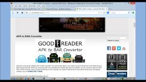 apk converter how to convert apk to bar files