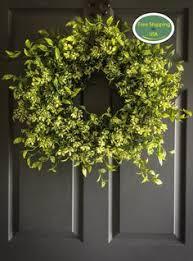 artificial boxwood wreath 16 inch front door d e c o r