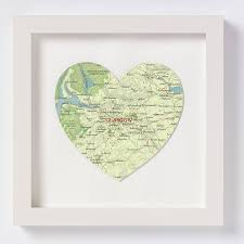 Heart Map Glasgow Map Heart Location Print By Bombus Notonthehighstreet Com