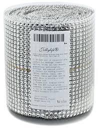 used wedding supplies bulk wedding decorations silver diamond rhinestone ribbon wrap