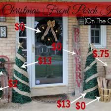 Outside Christmas Decorations For Sale by Outstanding Porch Christmas Decorating Ideas Photo Decoration
