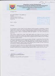 letter of recognition from the national government ateneo de