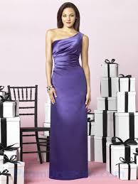 buy tailor made one shoulder slit purple sheath bridesmaid dress