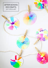 Art And Craft For Kids Of All Ages - after kid crafts diy spin art giveaway say yes