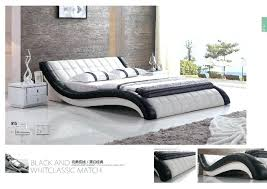 White Leather Bedroom Furniture Modern Leather Bedroom Sets Modern White Leather Cushion Bed For
