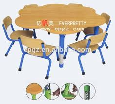 Drafting Table And Chair Set Flower Shape School Table Flower Shape School Table Suppliers And
