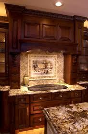 bathroom wonderful dark brown cabinets black granite kitchen