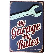 2017 wholesale my garage my rules metal decor car sign vintage