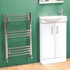 Slimline Vanity Units Bathroom Furniture by Greenwood 400mm White Gloss Slimline Cloakroom Basin Vanity Unit