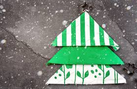 christmas xmas food background with copy space christmas tree