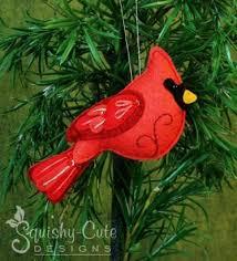 felt chickadee bird ornament craftsy