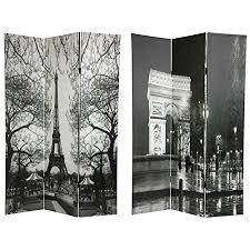 Room Divider Screens by Amazon Com Oriental Furniture 6 Ft Tall Double Sided Paris Room