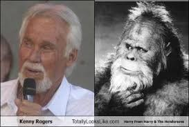 Kenny Rogers Meme - kenny rogers totally looks like harry from harry the hendersons