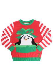 kids dreamworks penguins christmas sweater tipsy elves
