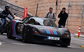 martini racing ferrari black porsche 918 spyder w weissach package using martini racing