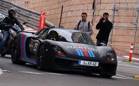 martini livery black porsche 918 spyder w weissach package using martini racing