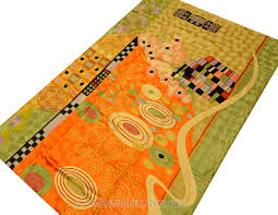 Modern Green Rugs by Klimt Orange Green Rugs Abstract Wall Hangings Accent Carpets Hand