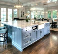 kitchen island with cooktop and sink prep size standard dimensions