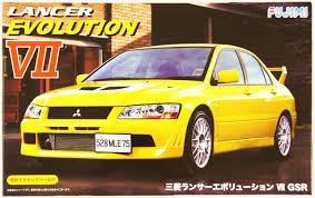 mitsubishi yellow fujimi id 179 mitsubishi lancer evolution vii gsr 1 24 scale kit