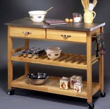 kitchen island cart stainless steel top mobile wood kitchen cart stainless steel top homestyles