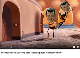 Bee Movie Meme - l 028 130 bee movie trailer but every bees face is replaced with