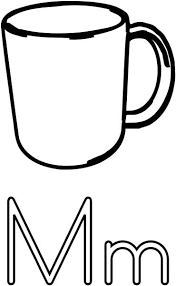 Mug Coloring Page Printable Worksheets For Kids Cup Coloring Page