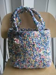Crochet Rugs With Fabric Strips Diy Rag Rug Bag Cakies Scissors Bag And Yards