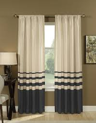 Living Room Curtains Silk Simple Living Room With 95 Inch Faux Silk Stripe Curtain Panel