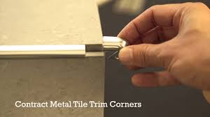 pro tile trim corners plastic and metal youtube