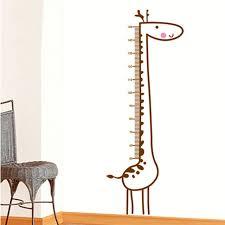 toise chambre b bande dessinée nouvelle girafe toise mesure wall sticker