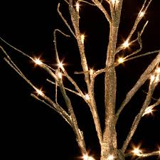 pre lit gold glitter paper twig tree 125cm with 48 warm white