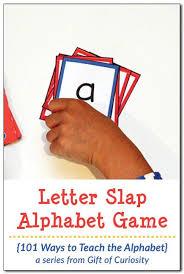 printable alphabet recognition games letter slap alphabet game 101 ways to teach the alphabet alphabet
