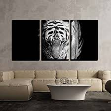 Home Interior Tiger Picture Amazon Com Wieco Art Large Tiger Modern Black And White Artwork