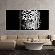 home interior tiger picture hello artwork 3 pieces black white leopard print
