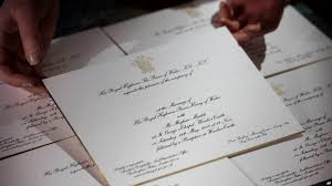 royal wedding invitation sealed and delivered royal wedding invitations dispatched