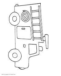 coloring book fire truck