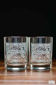 houston map glasses college town alumni etched map whiskey glasses