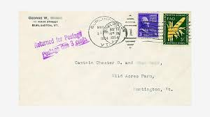 invalid postage on domestic u s mail from 1954 to the present